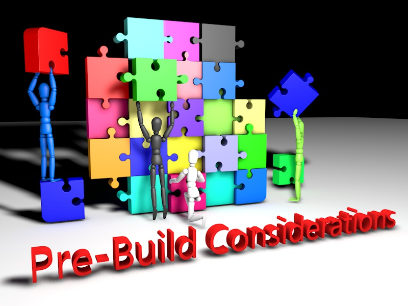 Cinema 4D image for blog post: Pre-Build Considerations. Stick figures putting puzzle pieces together